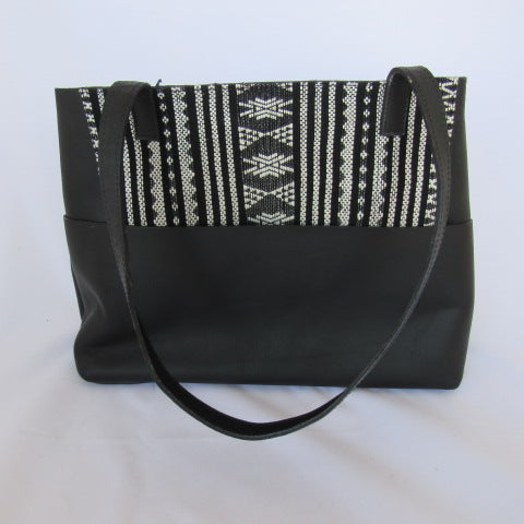 LUM Leather Bag- black and white