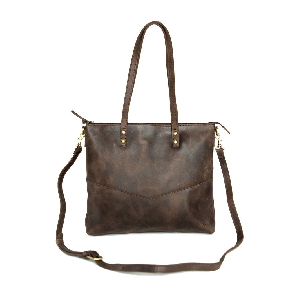 Leather Mini Crossbody Tote
