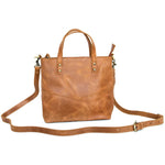Leather Mid-Sized Zipper Tote