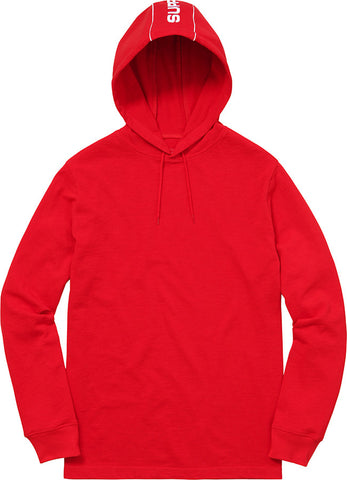 Supreme Hooded Stripe L/S Top Red