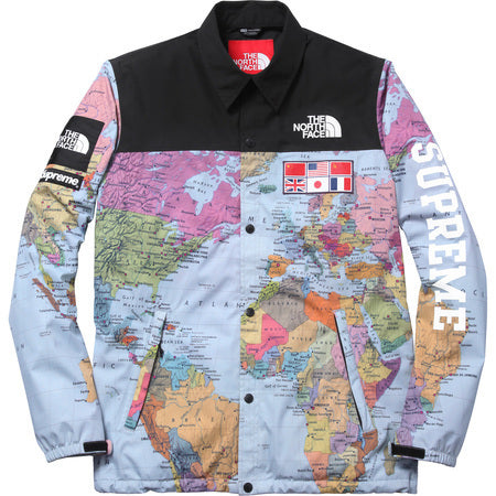 The Northface / Supreme Expedition Coaches Jacket MAP Print