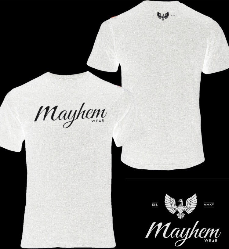 White T-Shirt With Black Logo