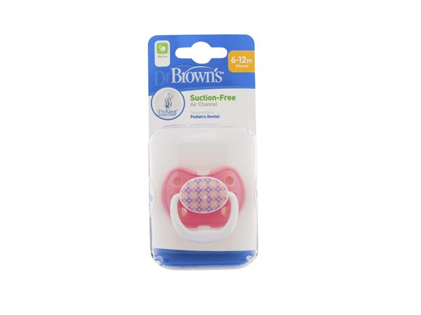 Dr. Browns Prevent Classic Shield Pacifier Pink