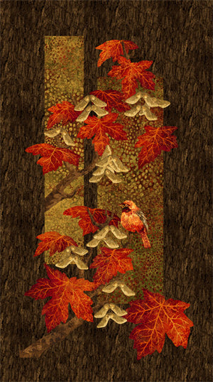 Stonehenge Maplewood Panel by Northcott Scarlet - 22014-24 - £10.00/panel