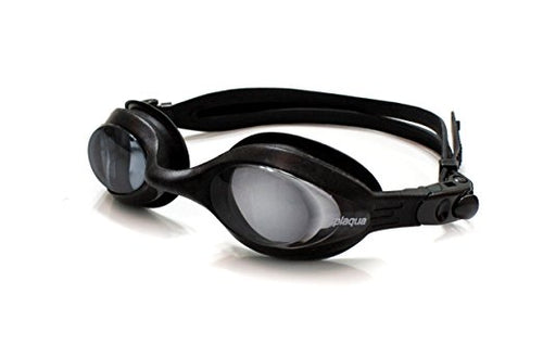Prescription Swim Goggles, Silicone Goggles with Adjustable Fit, Anti-Fog, and UV Protection - with Ear Plugs & Hard Case