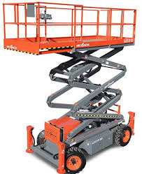 Rough Terrain Scissor Lift - 32 Ft. Construction Equipment Rental Project