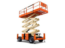 Rough Terrain Scissor Lift - 40 Ft. Construction Equipment Rental Project