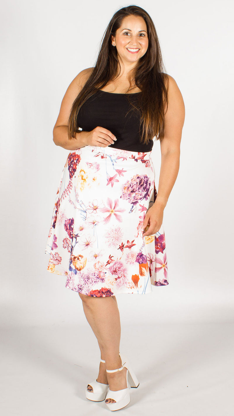 Arabella White Floral Skirt