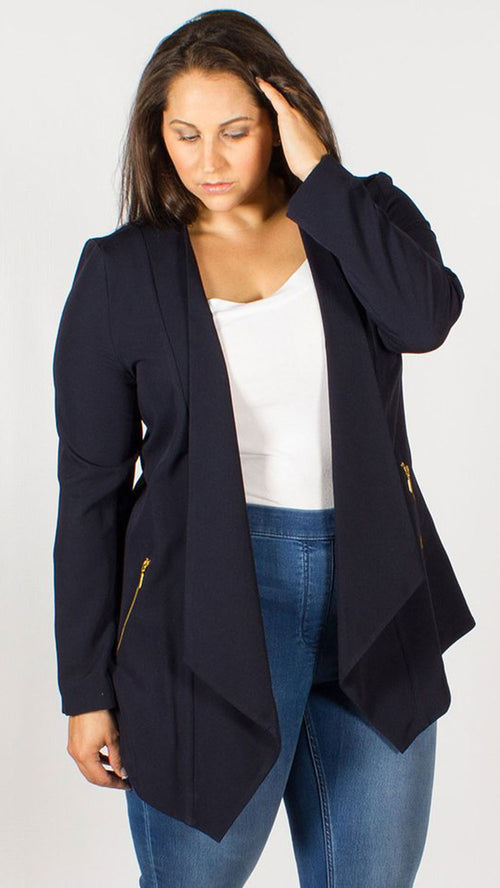 Varna Waterfall Zip Jacket Navy