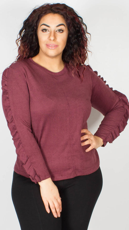 Katie Frill Purple Jumper