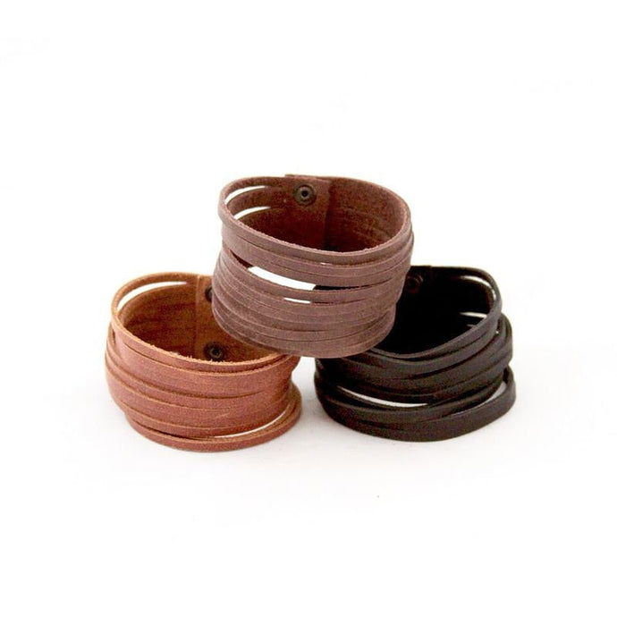 Slitted Leather Cuff