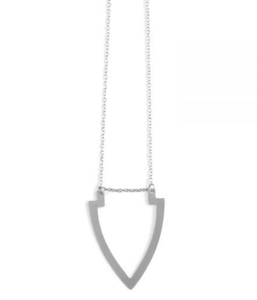 silver arrow necklace statement