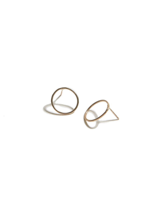 Hammered Circle Earring