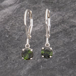Simple Green Tourmaline Dangles