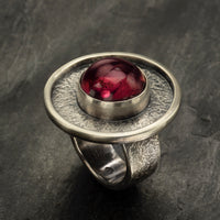 Tourmaline Cabochon Rings by Circle Stone Designs