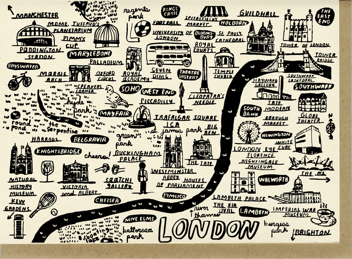 London Map Card - C4504