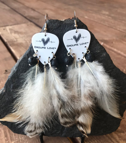 Groupie Love Classic Lava Feather Earrings