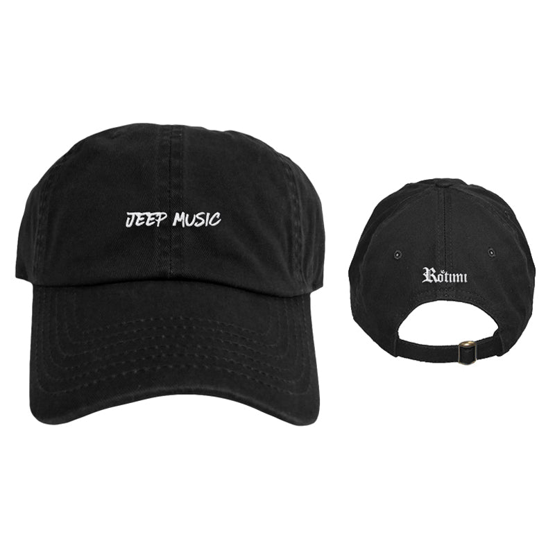 'Jeep Music' Logo - Dad Hat - Black