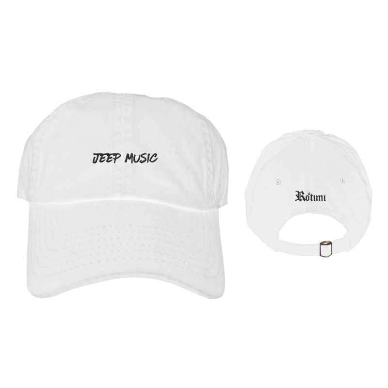 'Jeep Music' Logo - Dad Hat - White