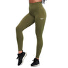 OLIVE GREEN FEATHER HIGH WAIST LEGGINGS - womens workout gear