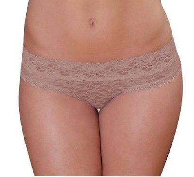 Coobie Undie Couture Lace Thong  8284 Nude Medium/Large