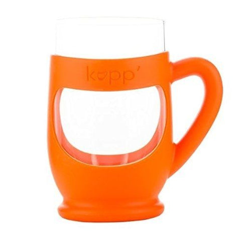 Kupp' Glass BPA Free 6 oz. Drinking Cup with Silicone Handle for Kids Orange