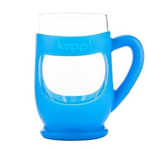 Kupp' Glass BPA Free 6 oz. Drinking Cup with Silicone Handle for Kids Blue