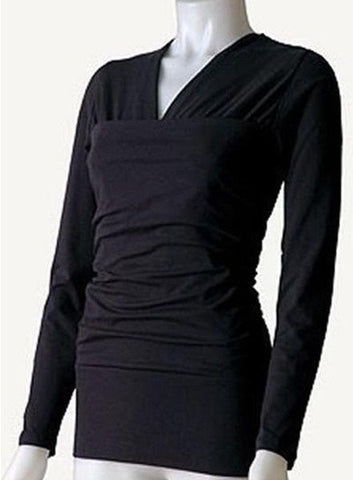 Vija Design Long Sleeve Kangaroo Skin-to-Skin T-Shirt Black X-Large
