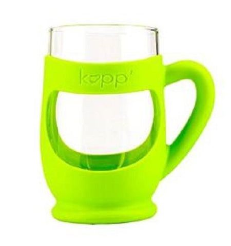 Kupp' Glass BPA Free 6 oz. Drinking Cup with Silicone Handle for Kids Green