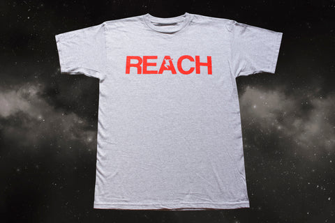 Athletic Grey REACH/ESCAPE - Infra Red print - parkour t-shirt