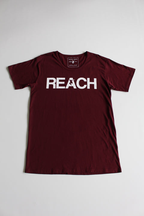 Maroon REACH/ESCAPE - scoop neck parkour t-shirt