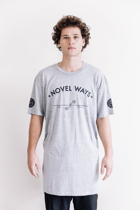 Novel Ways Air Team - tall tee - Athletic Grey