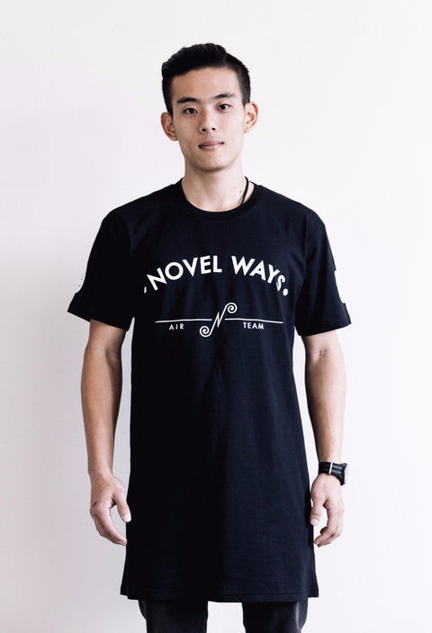 Novel Ways Air Team - tall tee - Black