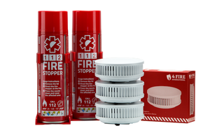 2 x Firestoppers and 3 x Smoke alarm home pack for 1300 sq ft