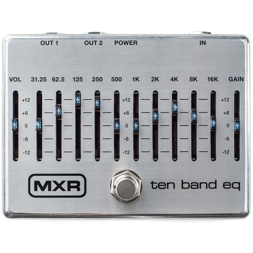 MXR M108S 10-Band Graphic EQ Equalizer (New Upgraded Design)