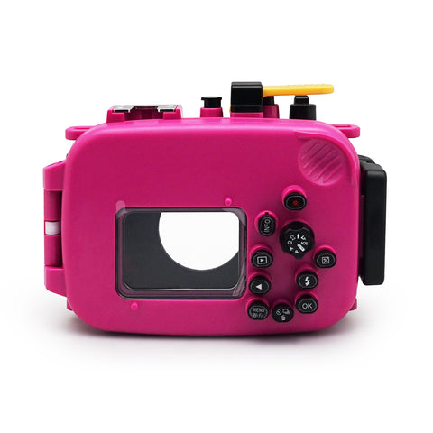 Olympus TG-3 / TG-4 60m/195ft SeaFrogs Underwater Camera Housing (Pink) - A6XXX SALTED LINE