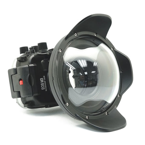 Canon EOS M3 40m/130ft Underwater Camera Housing with Dry dome port V.4 - A6XXX SALTED LINE