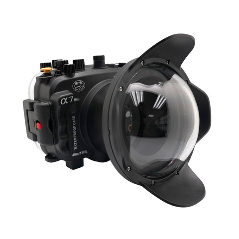 "Sony A7 NG Series UW camera housing with 6"" Dome port (Including Standard port) Black - A6XXX SALTED LINE"