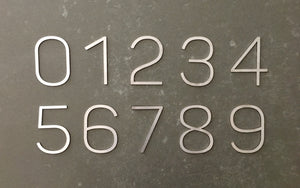 Modern Stainless Steel Contemporary Font House Numbers 90mm High