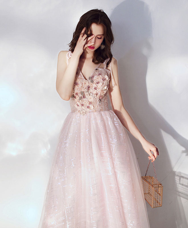 Cute v neck tulle lace short prom dress, tulle homecoming dress