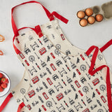 Children's & Adults London Apron Gift Set