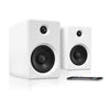 Image of Innovative Technology Rechargeable Bluetooth Wireless 50 watt Bookshelf Speakers, White