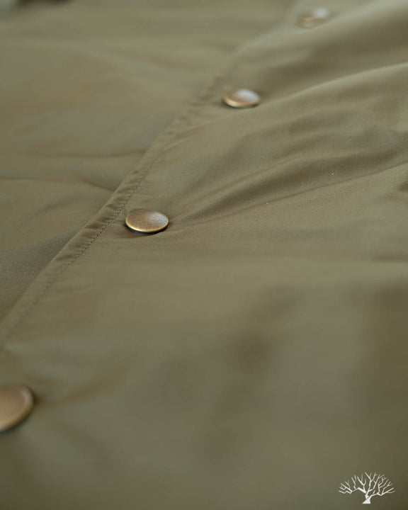 Satin Coach's Club Jacket (Sideline Jacket) - Olive