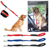 New Cool Dog Multifunction Soft Padded Nylon Dog Leash and Seat Belt Clip