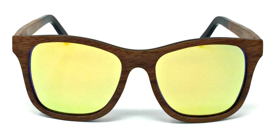Jade - Wood Sunglasses with Gold Polarized Lenses