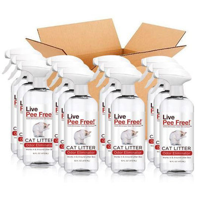 Live Pee Free!® Cat Litter Odor Eliminator - 12 Pack