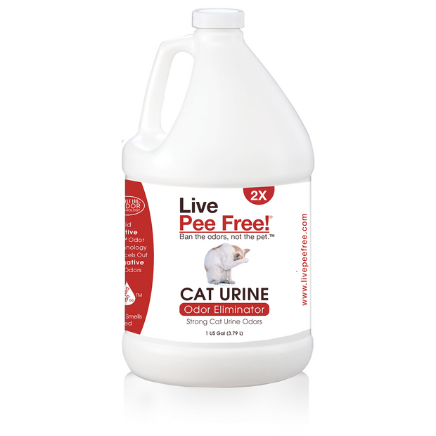 Live Pee Free!® 2X Cat Urine Odor Eliminator - 1 Gallon