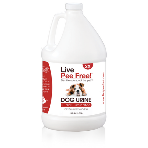 Live Pee Free!® Dog Urine Odor Eliminator 2X - 1 Gallon