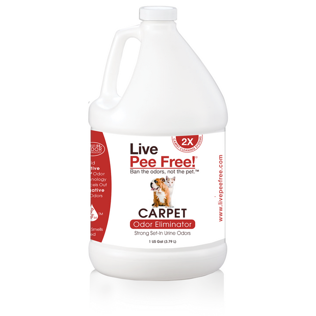 Live Pee Free!® Carpet Machine Odor Eliminator 2X - 1 Gallon