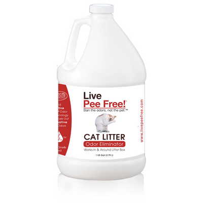 Live Pee Free!® Cat Litter Odor Eliminator - #1 Seller - 1 Gallon